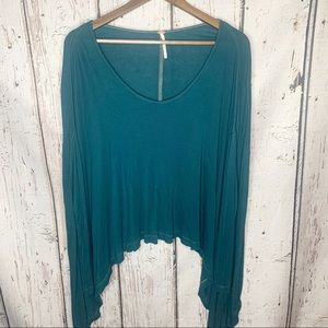 •Free People•Green Flow Longsleeve•XS